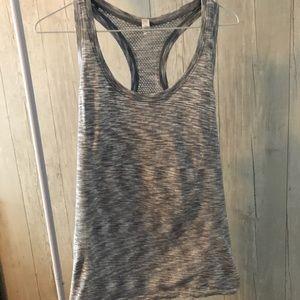 Gray Razorback workout tank top